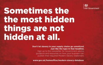 Modern Slavery campaign image